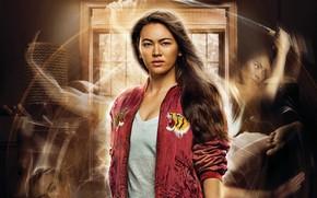 Картинка сериал, постер, Jessica Henwick, куртка, Colleen Wing, Джессика Хенвик, красная, шатенка, Железный кулак, Iron Fist, ...