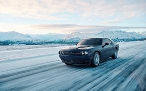 Картинка car, Dodge, Dodge Challenger, snow, montain, GT, Dodge Challenger GT