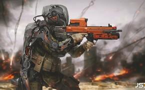 Обои оружие, Jude Smith, Future Soldier, солдат