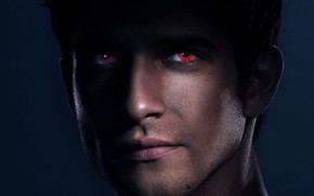 Обои глаза, Tyler Posey, актёр, волчонок, face, teen wolf, MTV, man, взгляд
