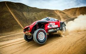 Картинка Песок, Mini, Спорт, Пустыня, Скорость, Холмы, Rally, Dakar, Дакар, Ралли, Buggy, Багги, X-Raid Team, 305, …
