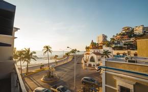 Картинка город, океан, Мексика, набережная, Mazatlan, Мазатлан