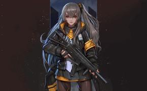 Картинка оружие, Girls Frontline, девушка, аниме