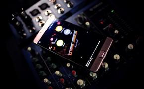 Картинка музыка, панель, звук, микшер, смартфон, highscreen, power five max