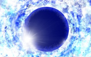 Картинка небо, солнце, затмение