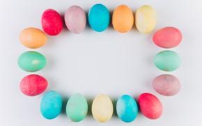 Картинка яйца, colorful, Пасха, wood, spring, Easter, eggs, decoration, Happy