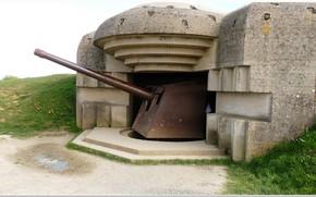 Картинка gun, france, normandy, artillery, overlord