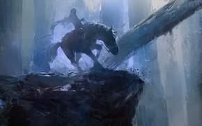 Картинка blue, horse, hood, fantsy