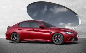 Обои Car, Italian, Red, Giulia, Alfa, Alfa Romeo, Sport