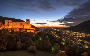 Картинка город, Германия, Heidelberg, Гейдельберг