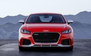 Картинка Audi, German, Red, 2018, RS, TT