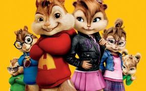 Картинка cinema, movie, film, animated film, animated movie, Alvin and the Chipmunks