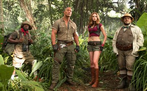 Обои jungle, Shelly Oberon, Moose Finbar, Jumanji, Dwayne Johnson. Smolder Bravestone, Jumanji: Welcome To The Jungle, ...