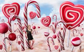 Картинка конфеты, девочка, карамель, Candyland