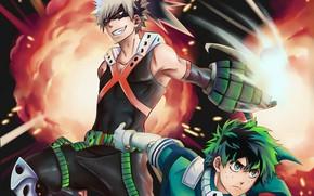Картинка аниме, арт, парни, Boku no Hero Academia, Моя геройская академия