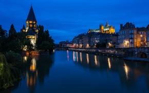 Картинка Франция, France, Metz, Temple neuf et Cathédrale, Мец