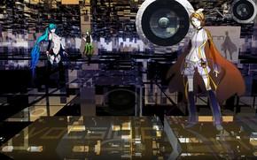 Картинка фон, аниме, арт, динамик, Vocaloid, Вокалоид, персонажи