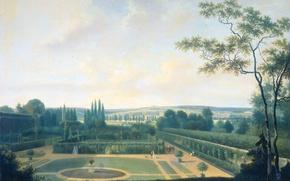 Картинка пейзаж, Посол Батавской Республики в Париже в Садах Багате, масло, Йозеф Август Книп, холст, картина