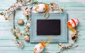 Картинка ветки, весна, Пасха, wood, верба, flowers, spring, Easter, eggs, decoration, Happy, яйца крашеные