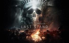 Обои The Division, череп, статуя свободы, нью йорк, солдаты, арт, Последний рубеж, Last Stand, Tom clancy's