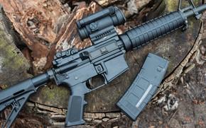 Картинка винтовка, магазин, американская, AR-15, полуавтоматическая
