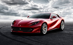 Обои Ferrari, Superfast, суперкар, фон, феррари, 812