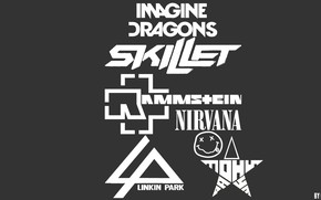 Обои skillet, rock, нирвана, imagine dragons, erkrain, Rammstein, имейджен драгонс, линкин парк, рамштайн, люблю рок, tony ...
