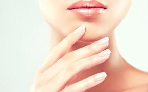 Картинка lips, nails, skin