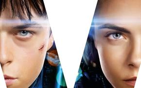 Картинка cinema, girl, boy, movie, face, film, scar, Cara Delevingne, Dane DeHaan, Laureline, Valérian et la …