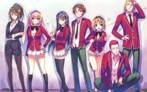 Картинка girl, anime, boy, asian, manga, sensei, oriental, asiatic, tie, bishojo, seifuku, light novel, japonese, Youkoso ...