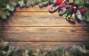 Картинка Новый Год, Рождество, wood, merry christmas, decoration, fir tree
