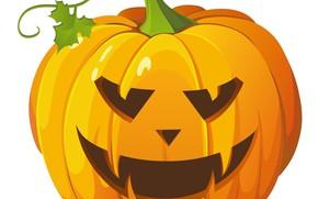 Картинка улыбка, тыква, хеллоуин