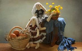 Картинка яйца, Пасха, зайки