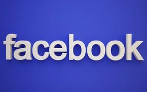 Обои социальная сеть, facebook, объем, буквы, текст