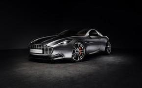 Картинка Aston Martin, Черный фон, Серебряный, Thunderbolt, 2015, galpin
