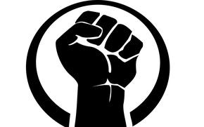 Картинка logo, black, hand