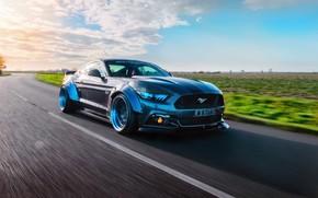 Обои Ford, Mustang, speedhunters, Liberty Walk, GTR