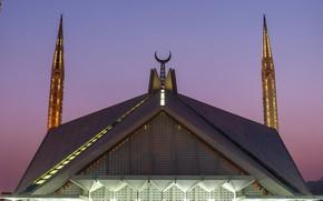 Картинка минарет, Пакистан, Исламабад, мечеть Фейсала