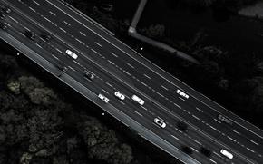 Картинка дорога, машины, город, Канада, Торонто, Canada, вид сверху, с высоты, Toronto, с высоты птичьего полета, …