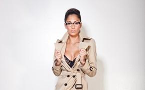 Обои очки, певица, Nicole Scherzinger, знаменитость