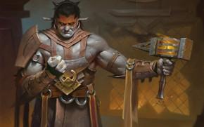 Картинка воин, Magic The Gathering, keeper of the Flame, Valduk, Dominaria set