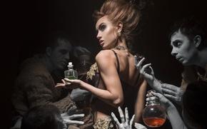 Картинка bottle, creatures, Victorian style