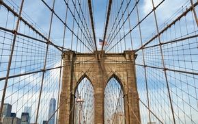 Картинка ingenuity, Brooklyn bridge, work of art, metal structure