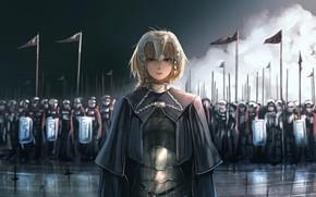 Картинка girl, sword, fantasy, armor, anime, army, painting, digital art, artwork, warrior, fantasy art, cloak, knight, …