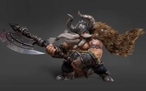 Обои 3D Character, арт, викинг, Moky lin
