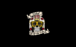 Картинка Star Wars, skull, logo, death, pilot, helmet, teeth, Rebel Alliance, SW, fighter pilot, Alliance for …