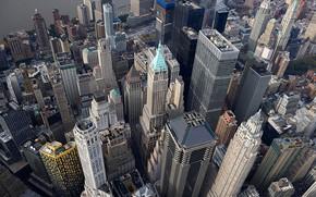 Картинка дома, Нью-Йорк, панорама, США