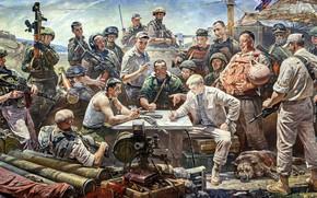 Картинка рисунок, Собака, Солдаты, АК-74М, Российской, Федерации, Гранатомёт, АГС-40