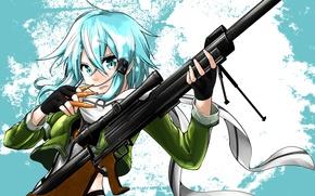 Картинка девушка, оружие, аниме, арт, Мастера меча онлайн, Sword Art Online