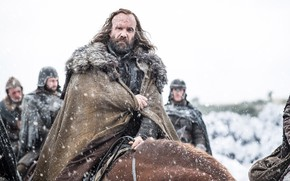 Картинка blizzard, snow, man, A Song of Ice and Fire, horse, season 7, strong, scar, Game …